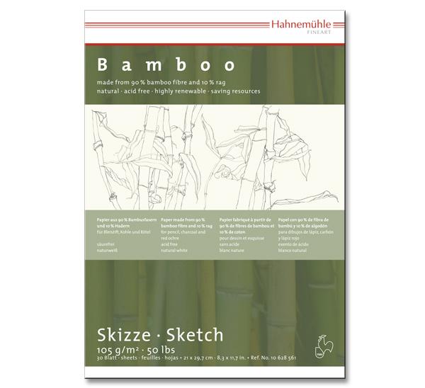 Купить Альбом-склейка для набросков Hahnemuhle Bamboo А4 30 л 105 г, HAHNEMUHLE FINEART, Германия