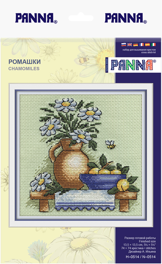 Купить Набор для вышивания PANNA Ромашки , Gamma, Россия