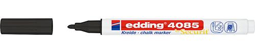 Купить Маркер меловой Edding 4085 1-2 мм с круглым наконечником, черный, Германия