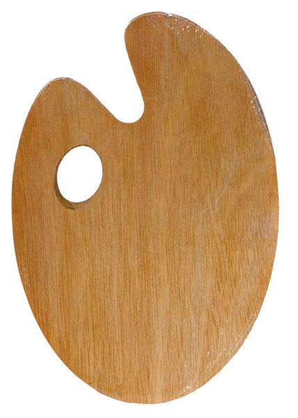 Купить Палитра деревянная овальная 20х30 см, Невская Палитра, Россия