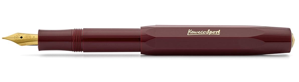 Купить Ручка перьевая Kaweco CLASSIC Sport BB 1, 3 мм, чернила синие, корпус бордовый, Германия