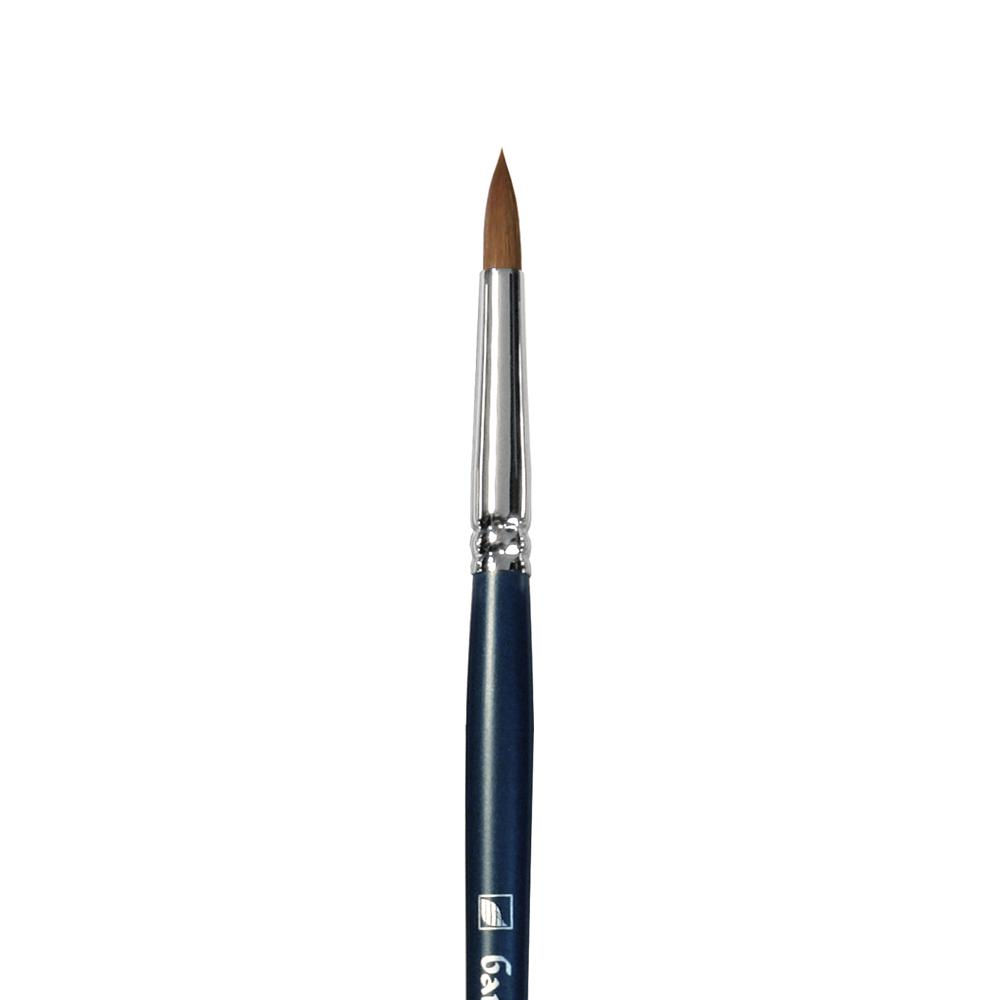Купить Кисть синтетика №8 круглая Альбатрос Байкал длинная ручка, Россия