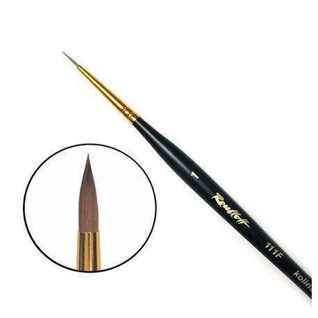 Купить Кисть колонок №1 круглая Roubloff 111F фигурная коротка ручка, матовая, Россия