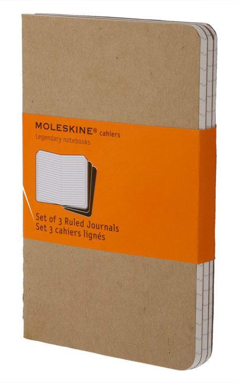 Купить Записная книжка в линейку Moleskine Cahier Journal Pocket 90х140 мм 64 стр бежевый (3шт), Китай