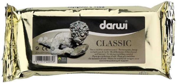"""Масса для моделирования самозатвердевающая """"DARWI-CLASSIC"""" 250 г белая"""