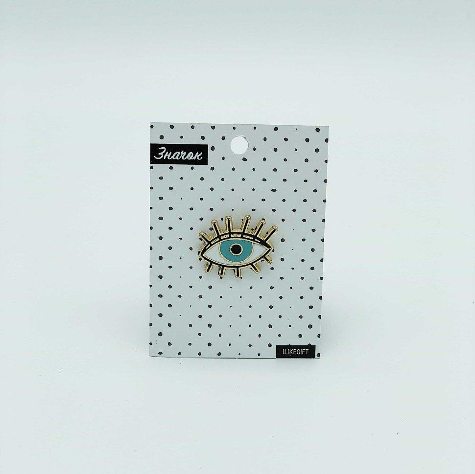 Купить Значок Blue eye , iLikeGift, Китай