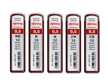 Купить Набор грифелей для механического карандаша Rotring TIKKY 12 шт 0, 5 мм, Германия
