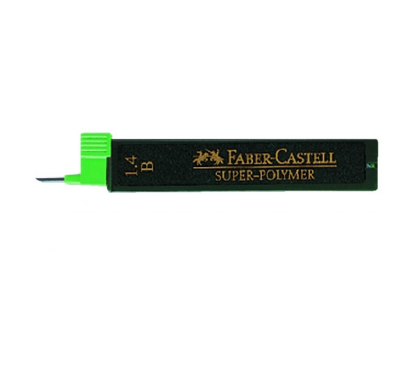 Купить Набор грифелей для механического карандаша Super Polymer 12 шт, 1, 4 мм B, Faber–Сastell, Германия