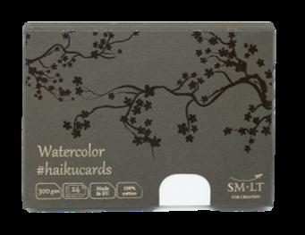 Купить Набор открыток SM-LT из акварельной бумаги 100% Cotton Watercolor Haikucards 14, 7x10, 6 см 300 г 24шт, Smiltainis, Литва