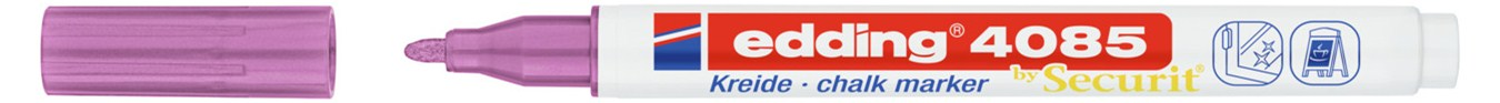 Купить Маркер меловой Edding 4085 1-2 мм с круглым наконечником, розовый металлик, Германия