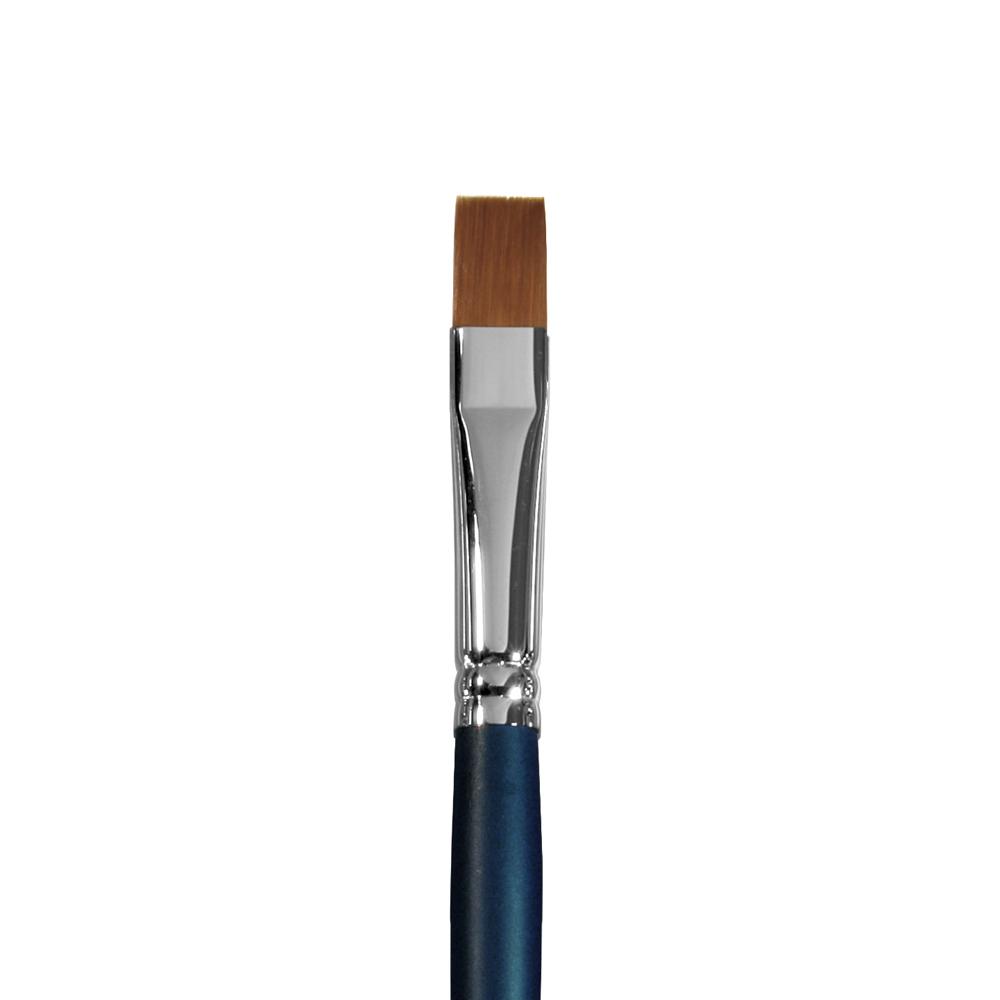 Купить Кисть синтетика №12 плоская Альбатрос Байкал длинная ручка, Россия