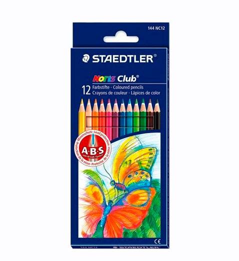 """Набор карандашей цветных Staedtler """"Noris Club"""" 12 цв"""