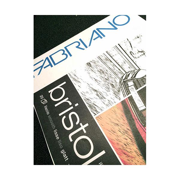 Купить Альбом-склейка для графики Fabriano Bristol 29, 7х42 см 20 л 250 г, Италия