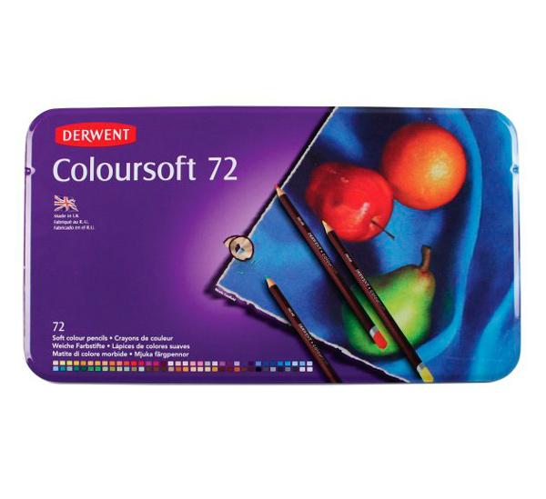 Купить Набор карандашей цветных Derwent Coloursoft 72 цв в метал кор