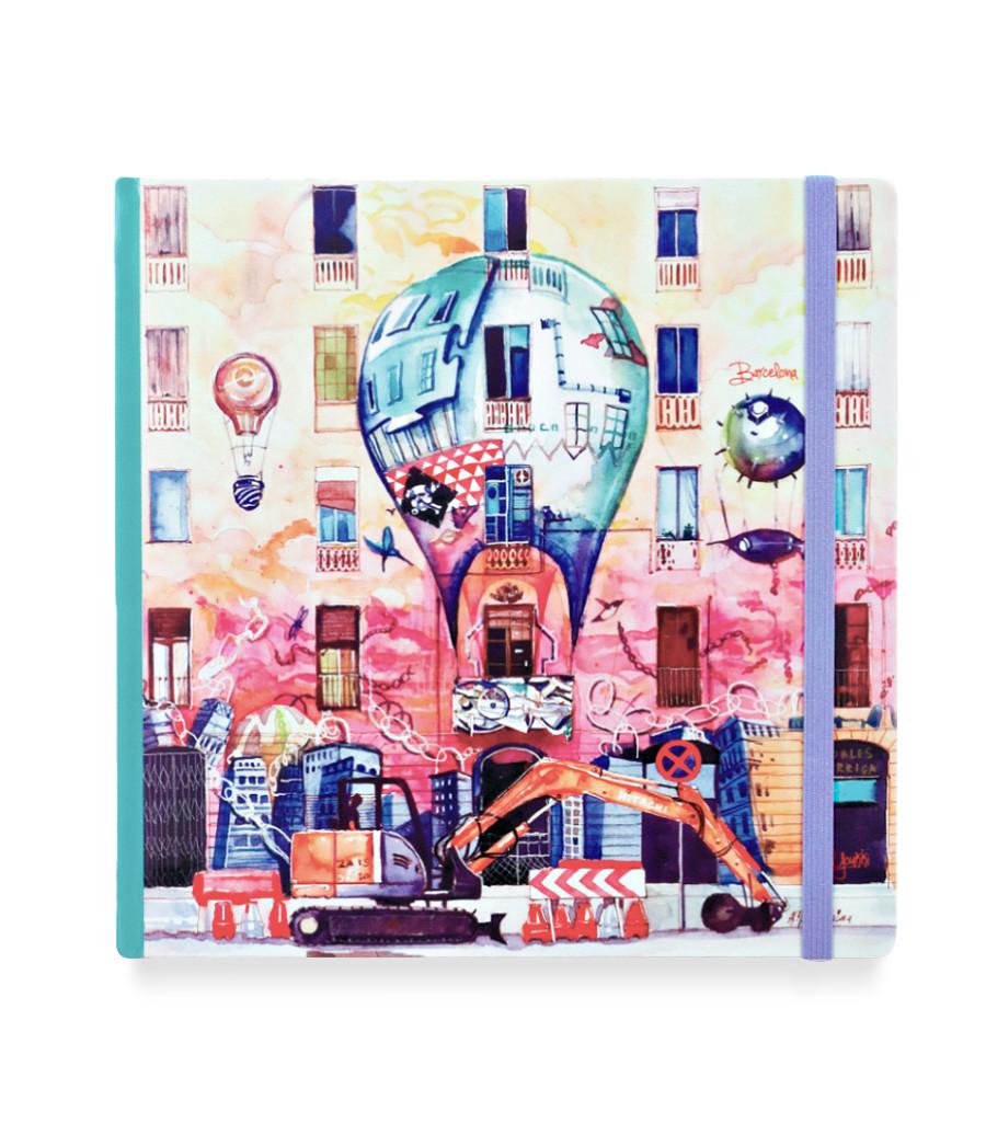 Купить Скетчбук акварельный Барселона 20х20 см 32 л 100% хлопок, Sketch Story, Россия