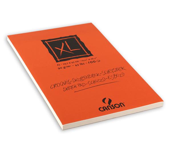 Купить Альбом-склейка для графики Canson XL Croquis 29, 7х42 см 100 л 90 г слоновая кость, Франция