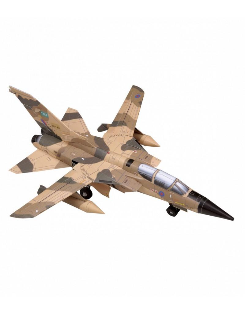 Купить Сборная модель из картона Авиация Истребитель Tornado песочный, Умная бумага, Россия