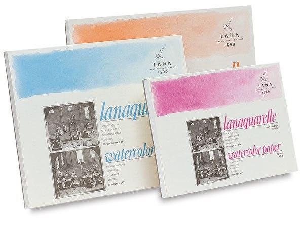 Купить Альбом-склейка для акварели Lana Lanaquarelle Satin, Франция