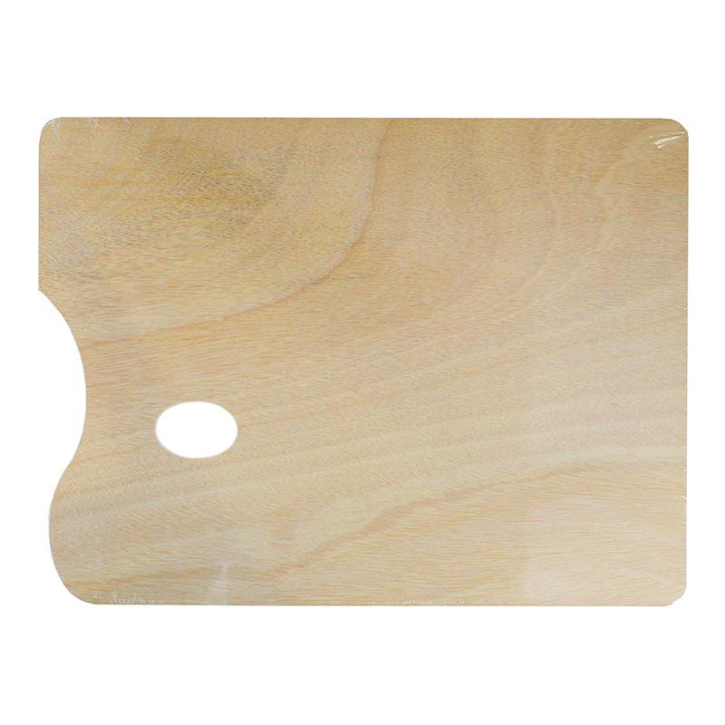 Купить Палитра деревянная прямоугольная (фанера) 30х40 см, Китай