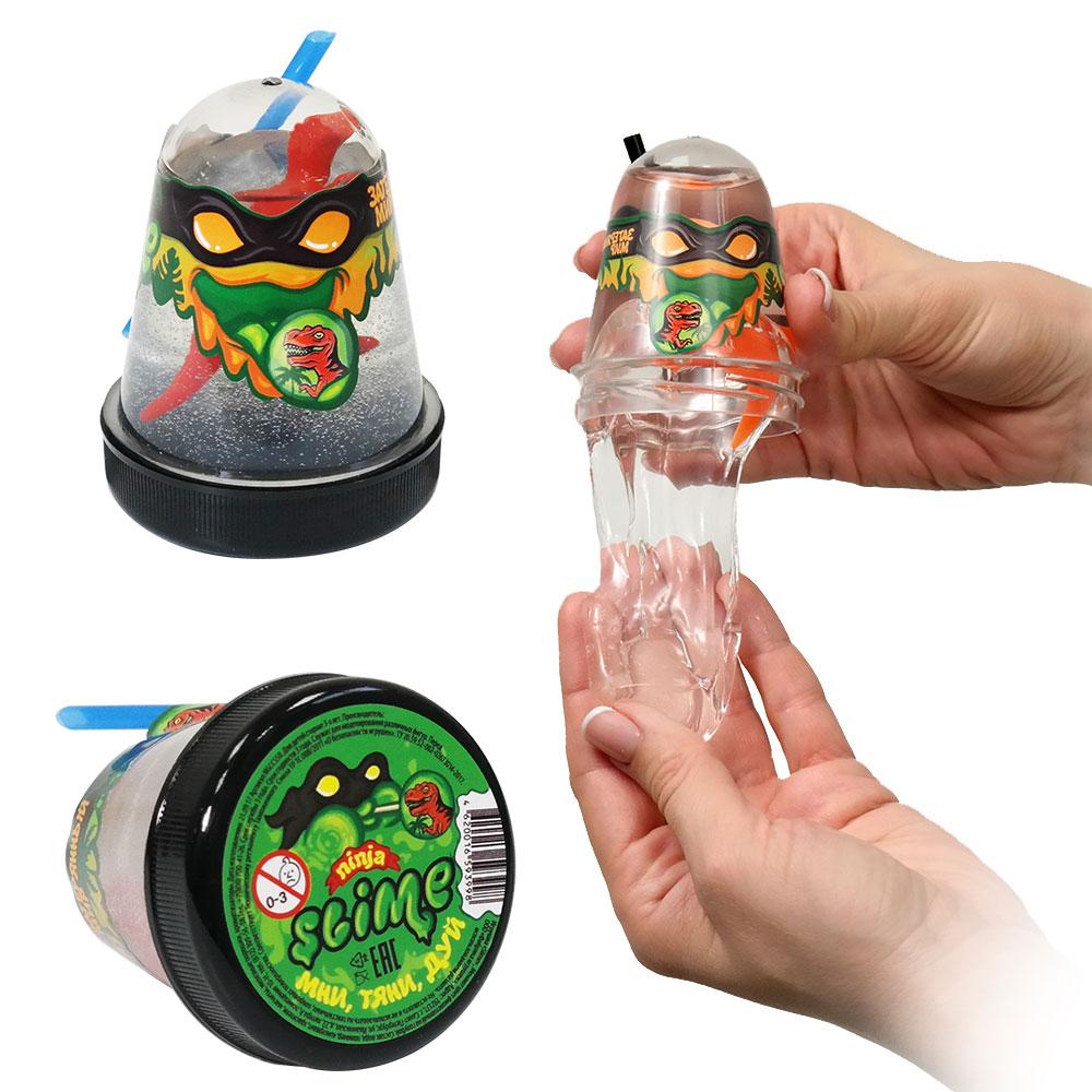 Купить Игрушка Slime Ninja, затерянный мир: динозавр, 130 гр, Волшебный мир, Россия