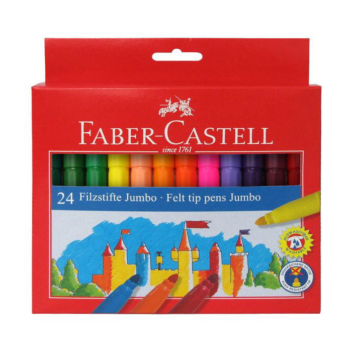 Купить Набор фломастеров Faber-castell Jumbo 24 шт в картонной коробке, Faber–Сastell, Германия