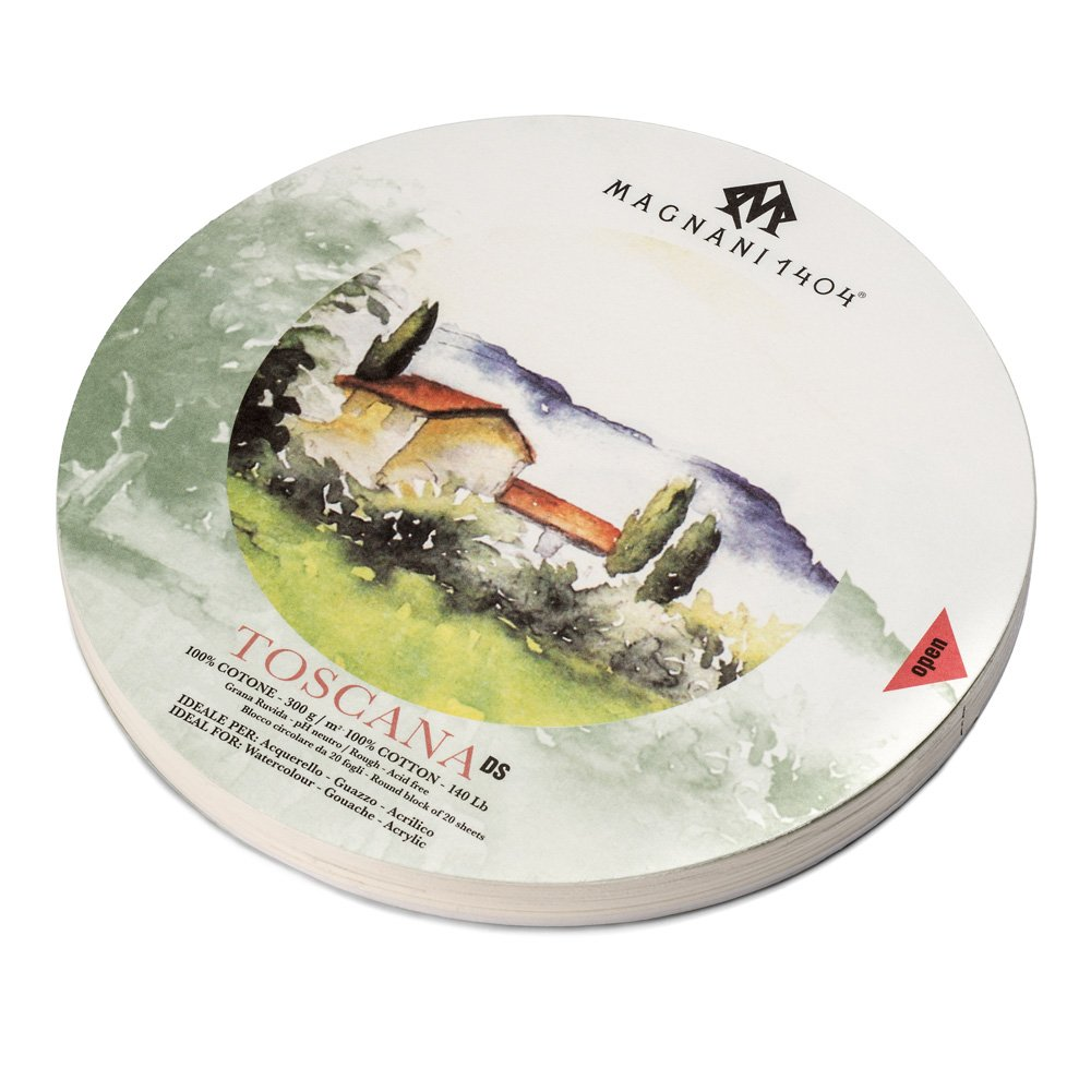 Купить Альбом-склейка для акварели Magnani Toscana D-32 см 20 л 300 г, хлопок 100%, Италия