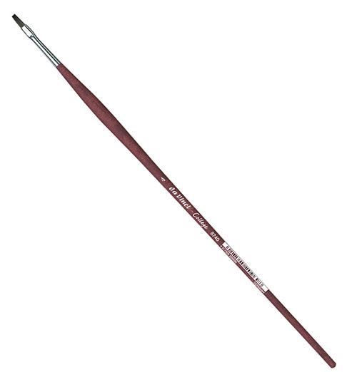 Купить Кисть синтетика №4 плоская Da Vinci 8740 длинная ручка, Германия