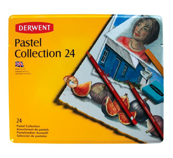 Купить Набор карандашей пастельных Derwent Pastel Collection 24 пр в метал кор