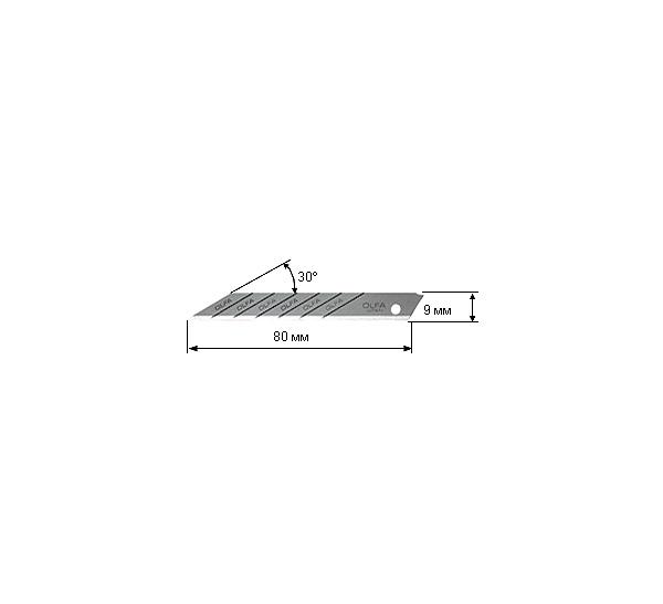 Купить Лезвия OLFA сегментированные для графических работ 9х80х0, 38 мм 10 шт, Япония