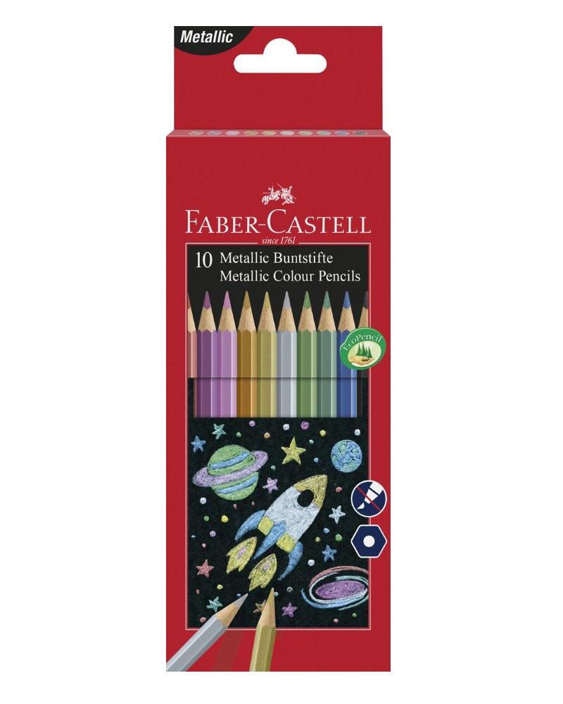 Купить Набор карандашей цветных Faber-castell Metallic 10 шт в картоне, Faber–Сastell, Германия