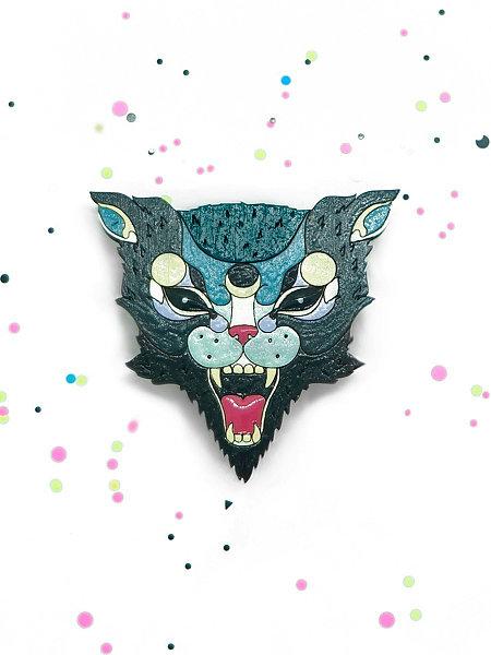 Купить Брошь COREYAGI Бешеная кошка черный, Россия