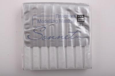 Купить Пластика для запекания Sonnet 56 г с блестками Белый, Сонет, Россия