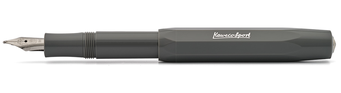 Купить Ручка перьевая Kaweco SKYLINE Sport M 0, 9 мм, чернила синие, корпус серый, Германия