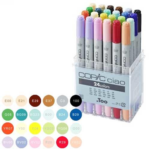 Купить Набор маркеров Copic Ciao 24 цв, Copic Too (Izumiya Co Inc), Япония