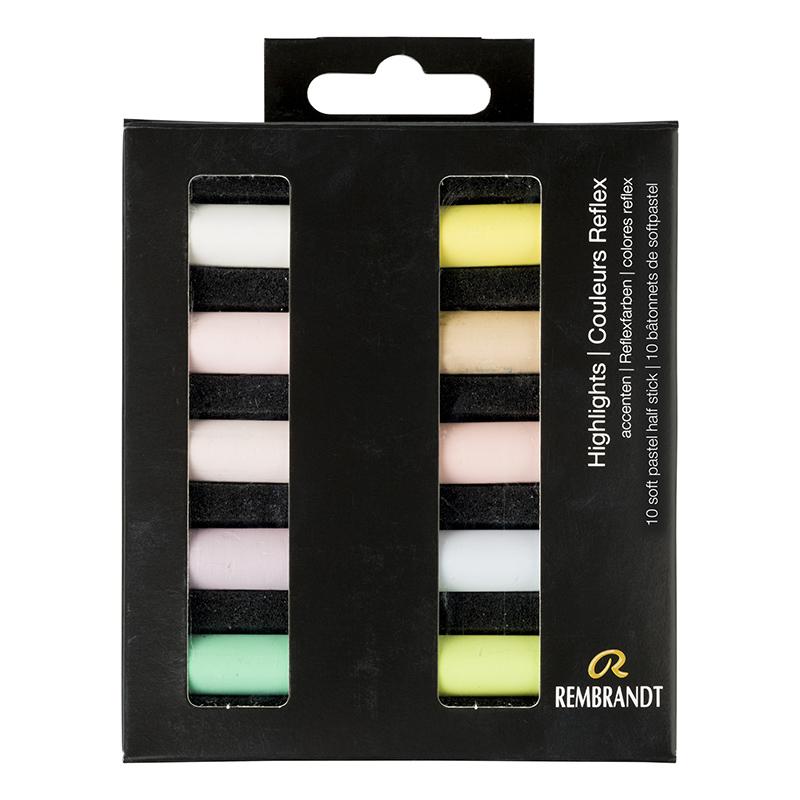 Купить Набор сухой пастели Talens Rembrandt Блики 10 цв, в картонной коробке, Royal Talens