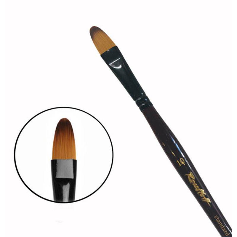 Купить Кисть синтетика №10 овальная Roubloff 06RB короткая ручка, Россия