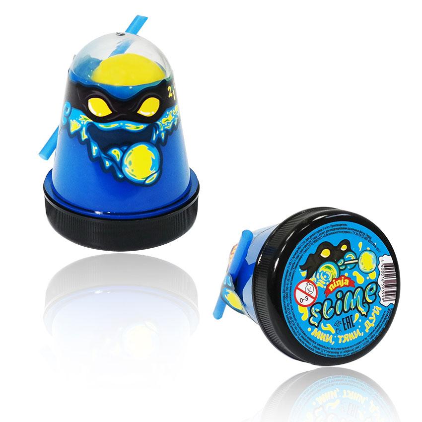 Купить Игрушка Slime Ninja 2 в 1 смешивай цвета, синий и желтый, 130 г, Волшебный мир, Россия