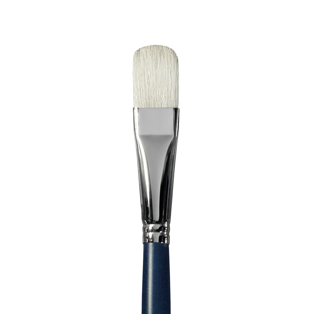 Купить Кисть щетина №18 овальная Альбатрос Байкал длинная ручка, Россия