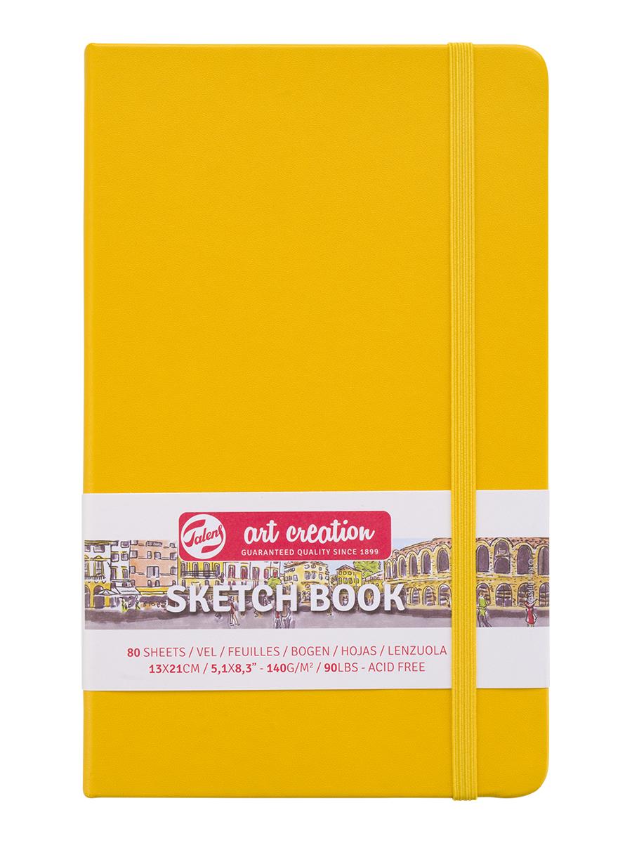 Купить Блокнот для зарисовок Art Creation 13х21 см 80 л 140 г, твердая обложка, желтый, Royal Talens