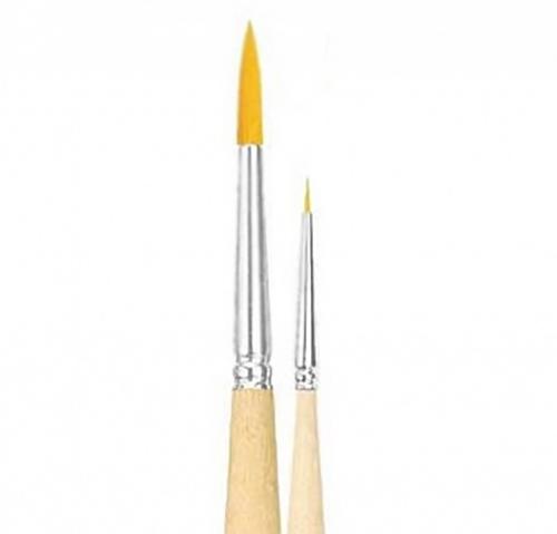 Купить Кисть синтетика №9 круглая Живописные кисти 1310 короткая ручка, Россия