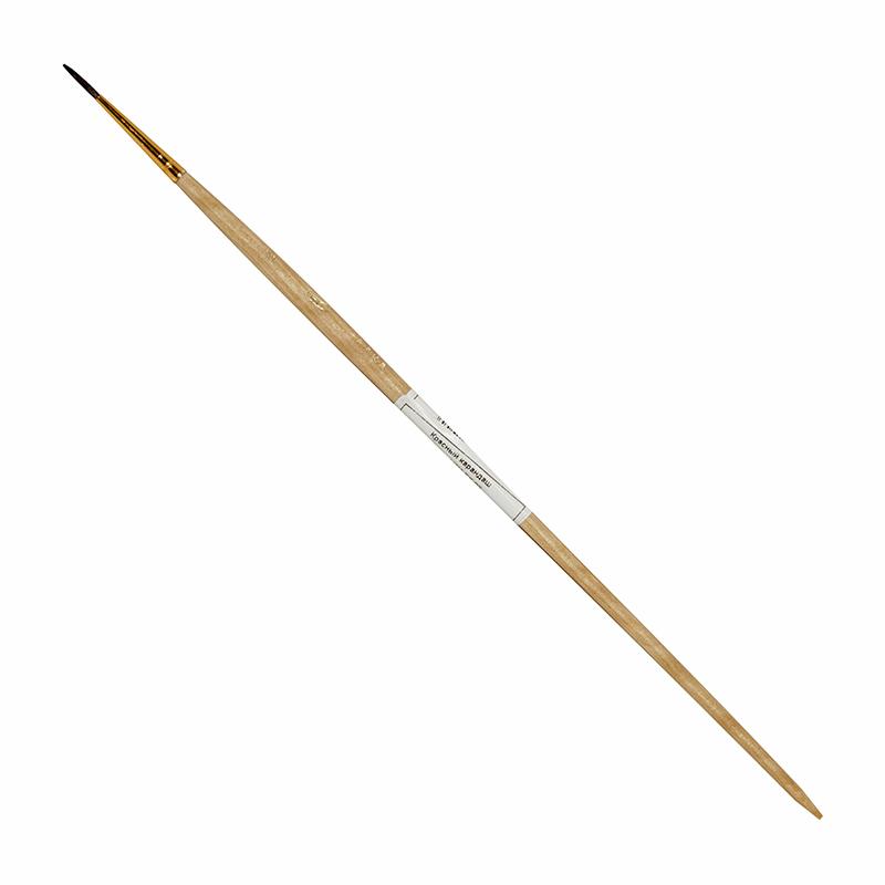Купить Кисть белка №2 круглая ЦТИ длинная ручка, Россия