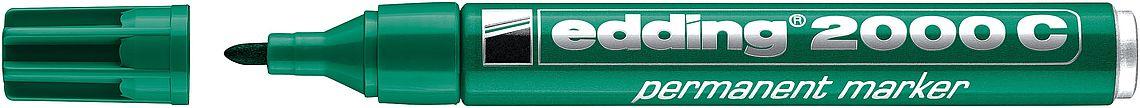 Купить Маркер перманентный Edding 2000C 1, 5-3 мм с круглым наконечником, зеленый, Германия