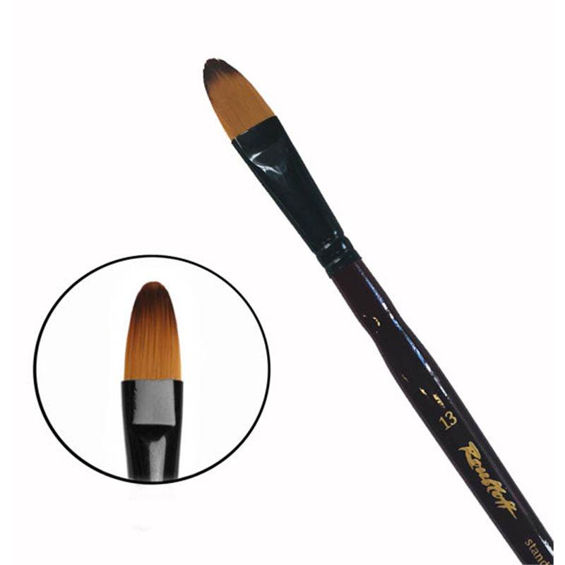 Купить Кисть синтетика №13 овальная Roubloff 06RB короткая ручка, Россия