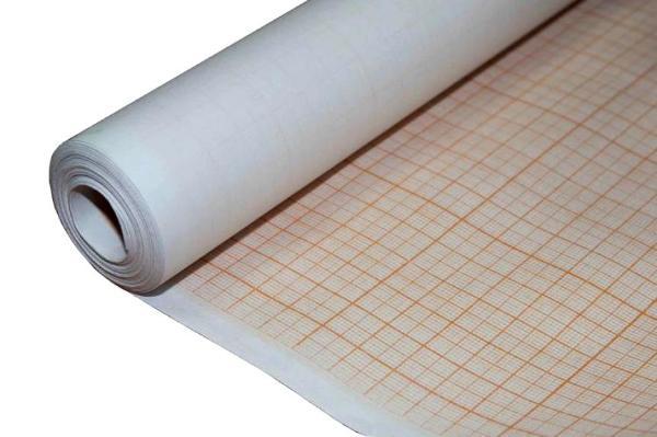 Купить Бумага масштабно-координатная рулон 0, 64х10 м Оранжевый, Лилия Холдинг, Россия