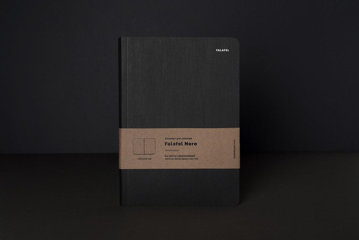 Купить Блокнот для записей FALAFEL BOOKS А5 Nero, Россия