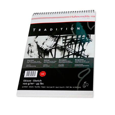 Купить Альбом для эскизов на спирали Hahnemuhle Tradition 30х42 см 50 л 100 г, HAHNEMUHLE FINEART, Германия