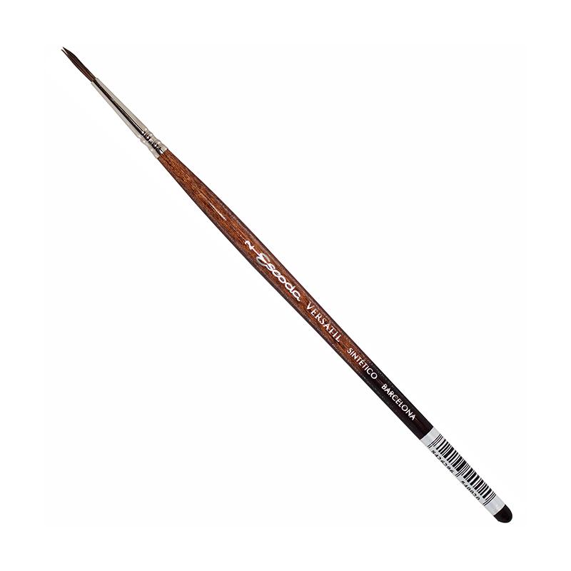 Купить Кисть синтетика №2 круглая Escoda Versatil 1540 короткая ручка коричневая, Испания