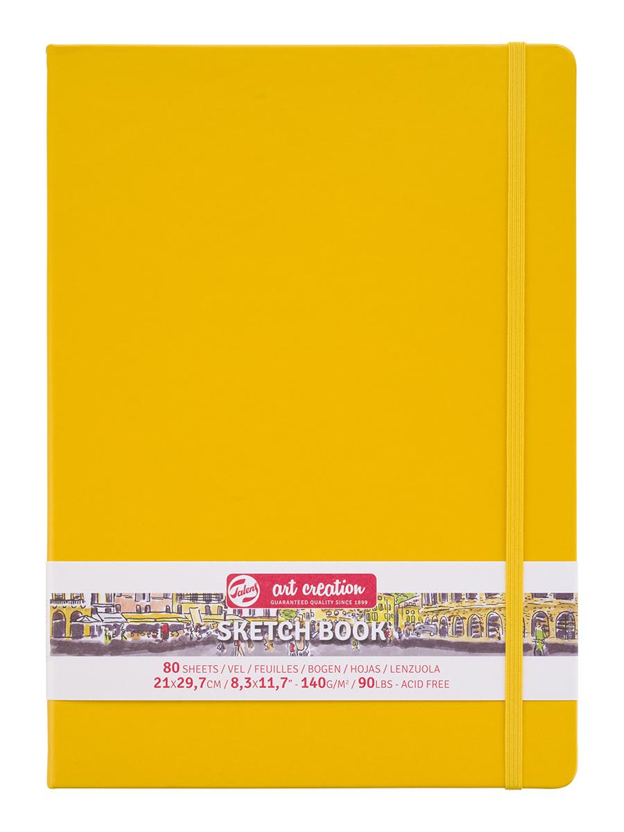 Купить Блокнот для зарисовок Art Creation 21х30 см 80 л 140 г, твердая обложка, желтый, Royal Talens