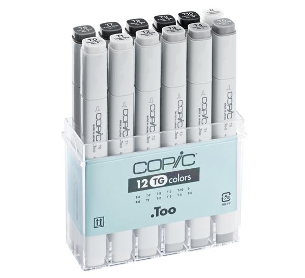 Купить Набор маркеров Copic 12 шт А3, Copic Too (Izumiya Co Inc), Япония