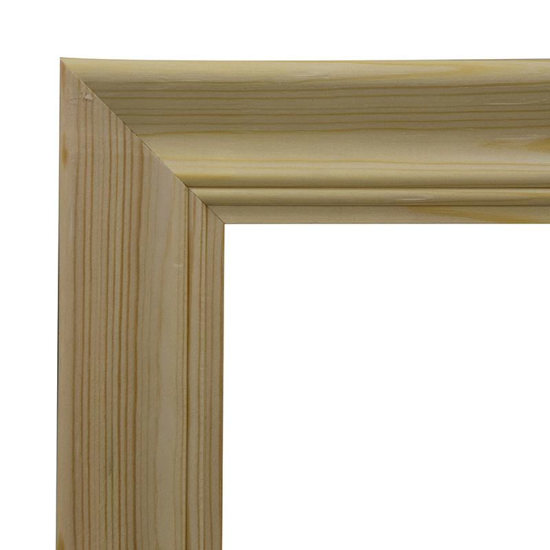 Рама 18х24 см деревянная некрашенная (ширина багета 5,1 см) фото